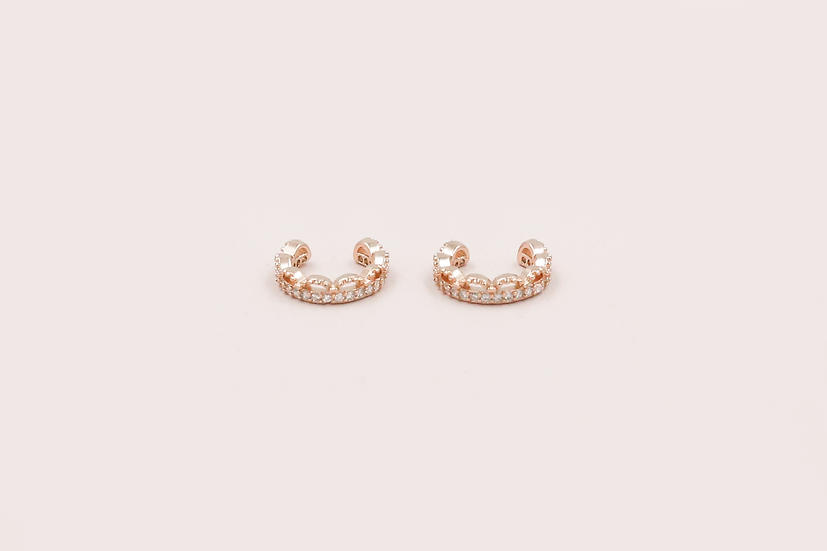 Zanne Ear Cuffs in Rose Gold