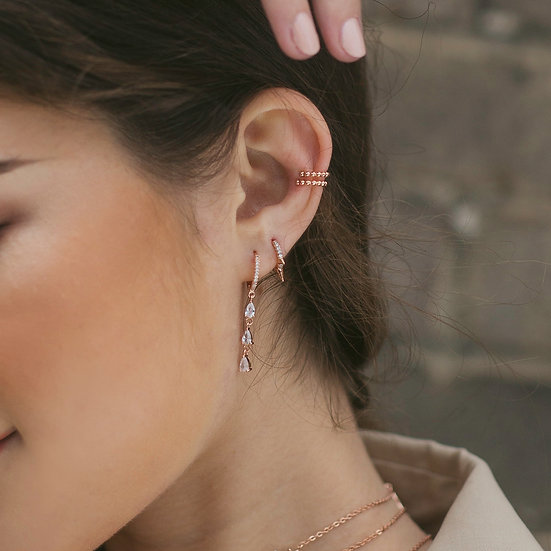 Clara Earring in Rose Gold
