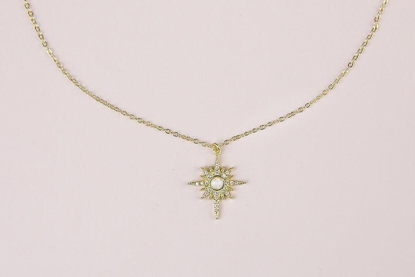 Elise Starburst Necklace in Gold