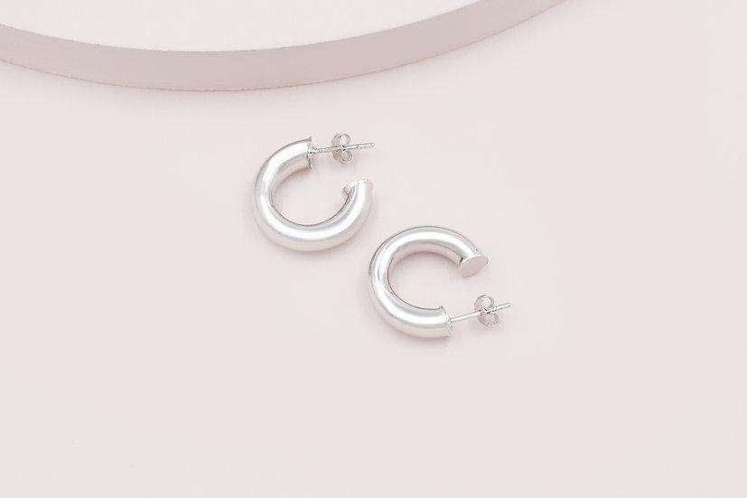 Rosa 20mm Hoops in Silver