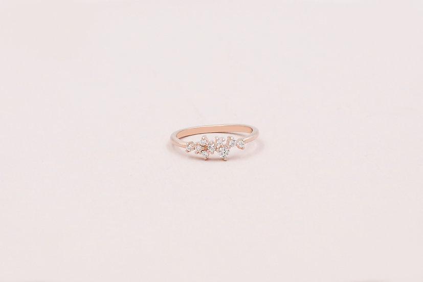 Estelle Dainty Ring in Rose Gold