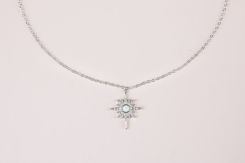 Elise Starburst Necklace in Silver