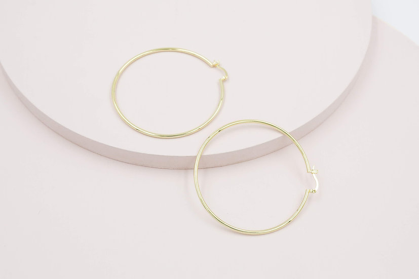 Riva 60mm Hoops in Gold