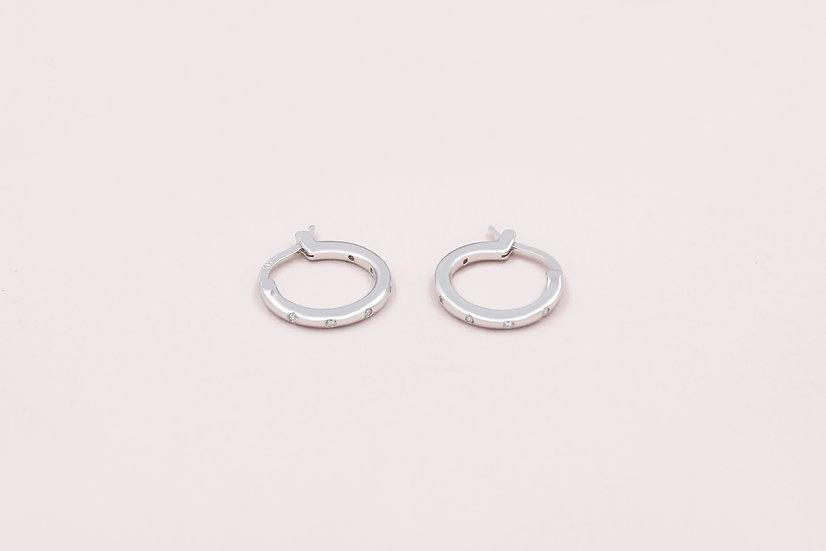 Azure Eternity Hoops in Silver