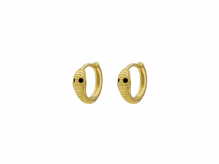 Vina Snake Hoops in Gold