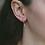 Thumbnail: Mila Evil Eye Earrings in Rose Gold