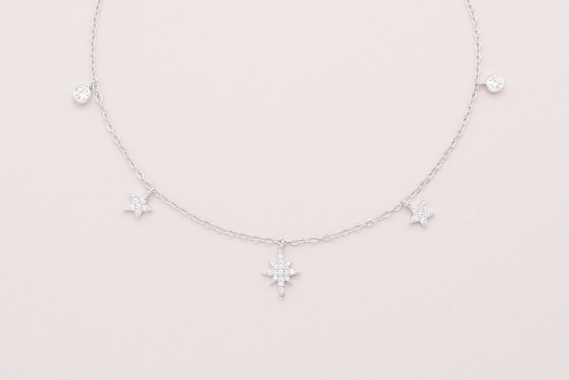 Rema Starry Necklace in Silver