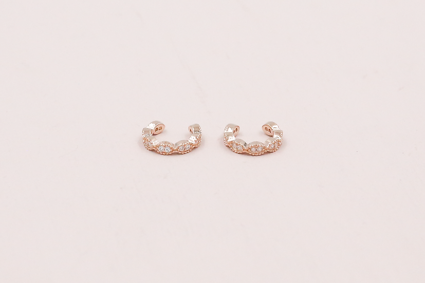 Roi Ear Cuffs in Rose Gold