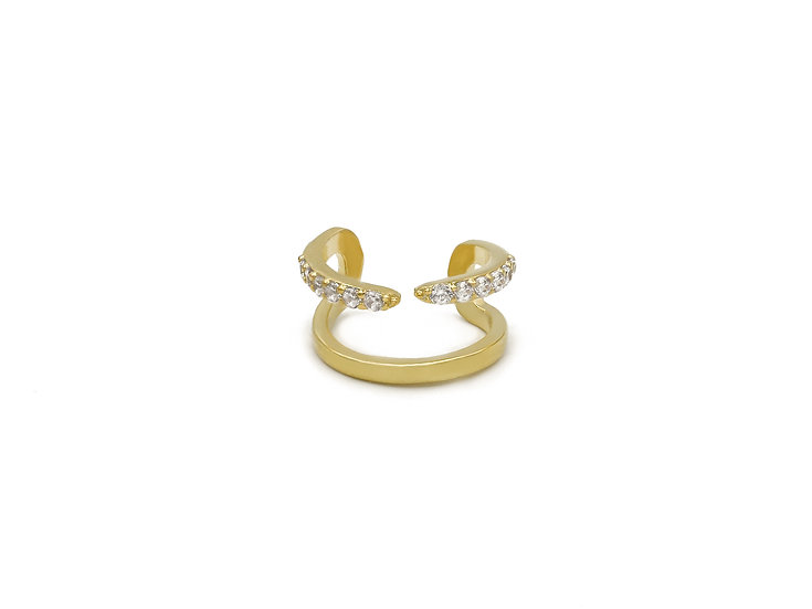 Double Statement EarCuff in Gold