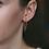 Thumbnail: Aviana Baguette Chain Huggies in Rose Gold
