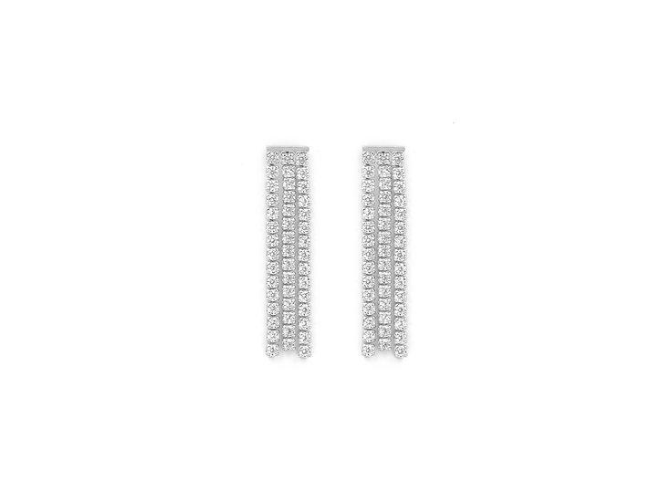 Luxury Tassel Studs Earrings in Silver