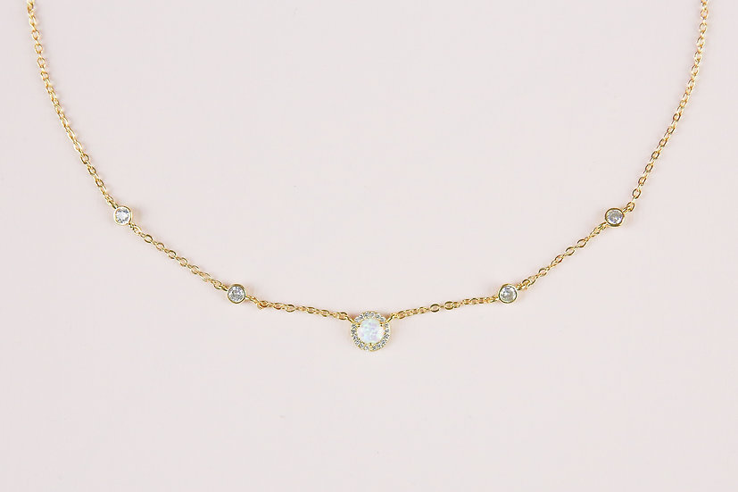 Janvier Opal Necklace in Gold