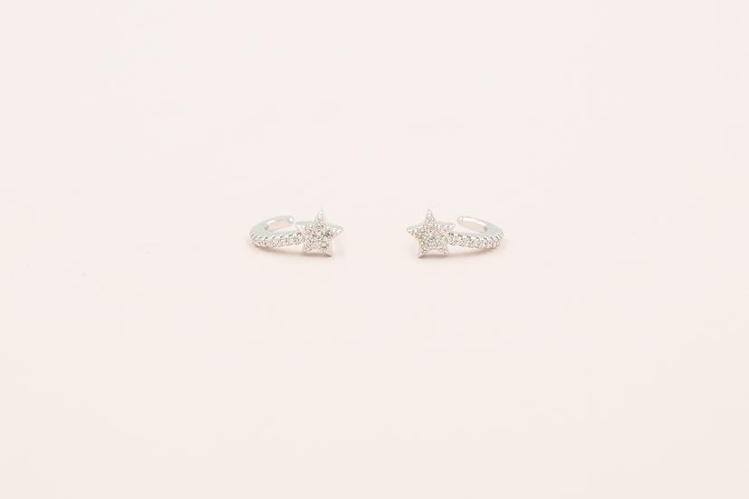 Avice Star Earrings in Silver