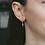 Thumbnail: Mila Cross-Shaped Earrings in Silver