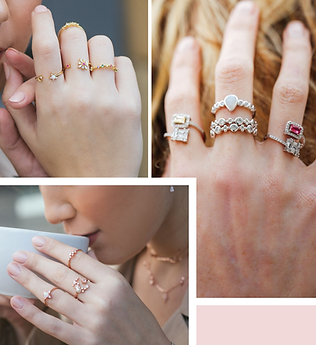 Ally Jewellery Rigs, Stacking Rings