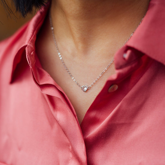 Allaire Love Necklace in Silver