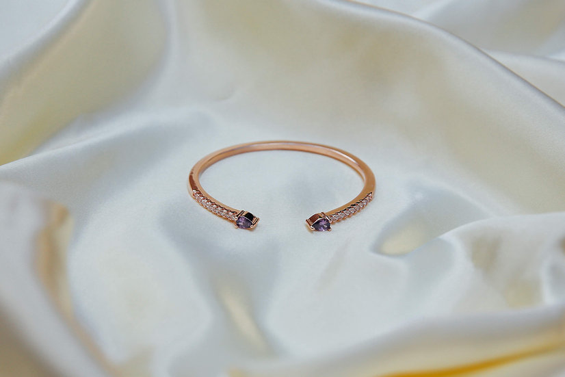 Monique Bangle in Rose Gold -Purple