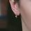 Thumbnail: Aviana Two Drop Dangles Huggies in Rose Gold