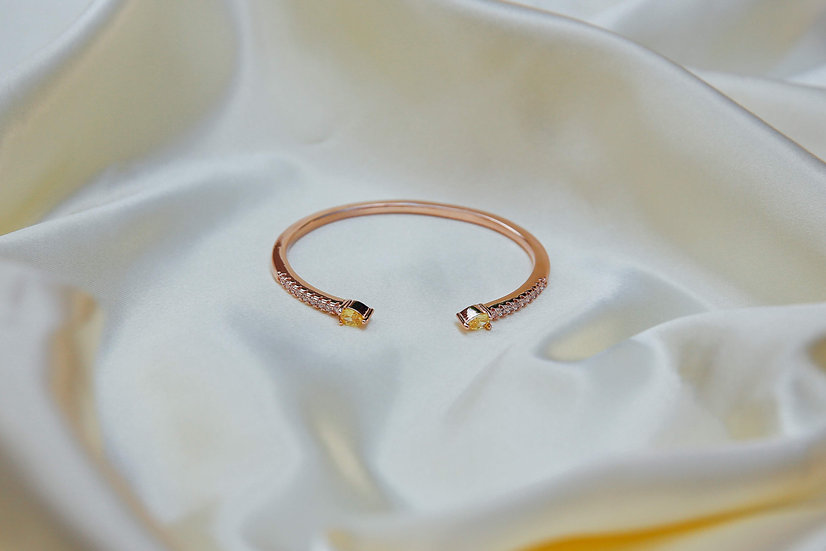 Monique Bangle in Rose Gold - Yellow