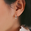Thumbnail: Aviana Two Drop Dangles Huggies in Gold