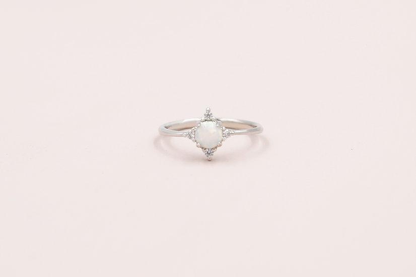 Abella Opal Ring in Silver