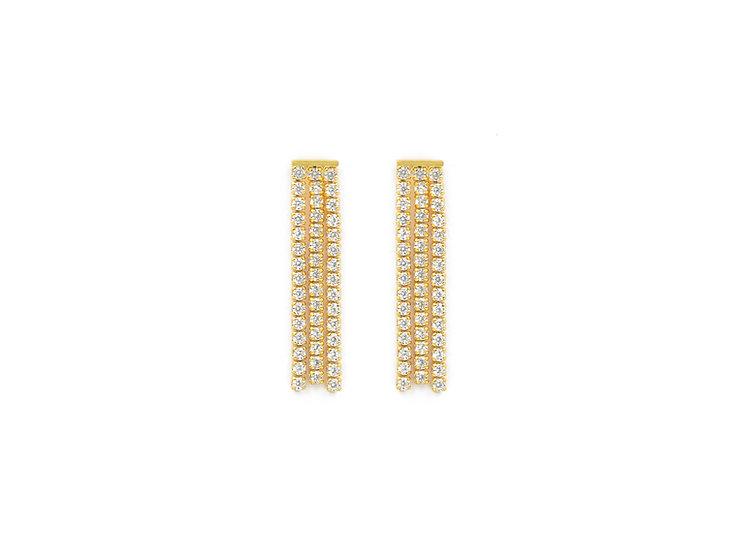 Luxury Tassel Studs Earrings in Gold