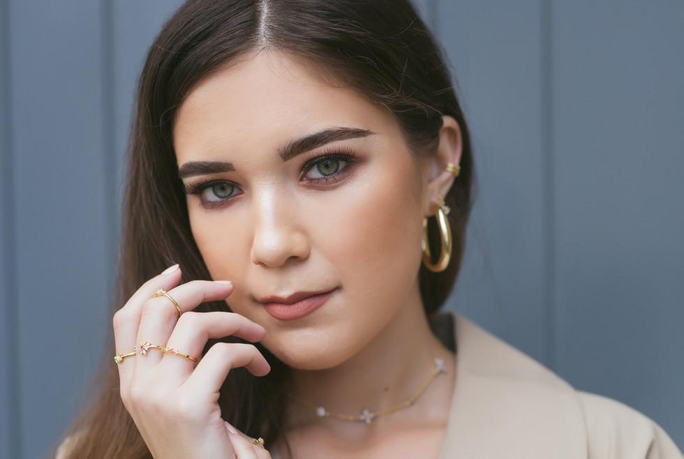 Ally Jewellery | Gold Chunky Hoop | Studs | Earcuff