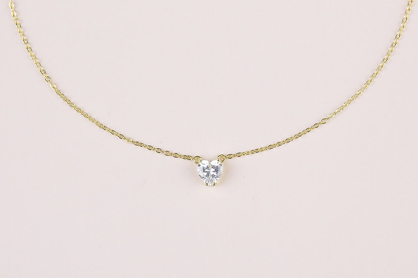Josee Heart Necklace in Gold