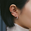 Thumbnail: Orva Ear Cuffs in Rose Gold