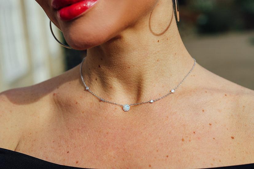 Janvier Opal Necklace in Silver
