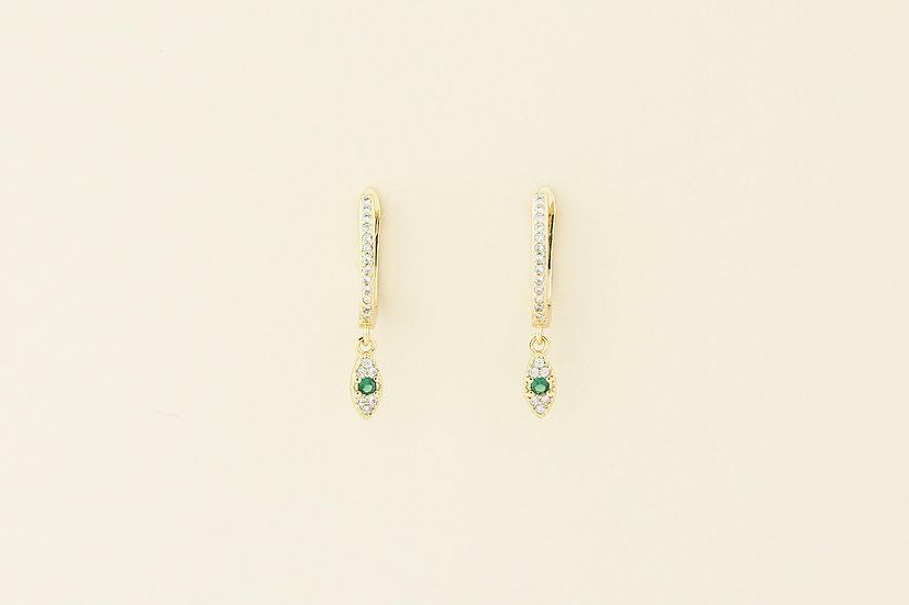 Mila Evil Eye Earrings in Gold