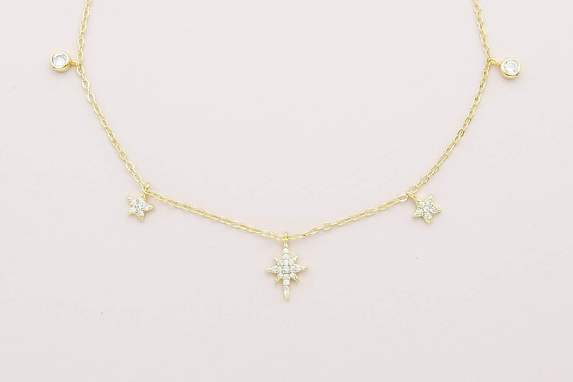 Rema Starry Necklace in Gold