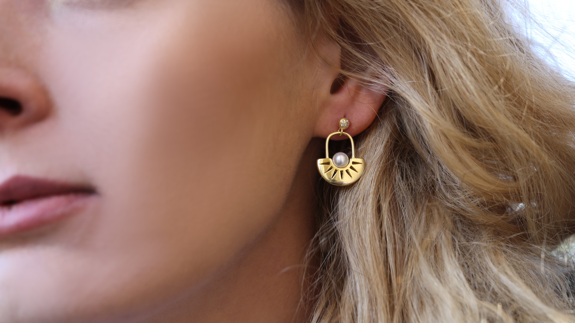 Pietra Pearl Earrings | Art Deco Earrings | Designer Earrings