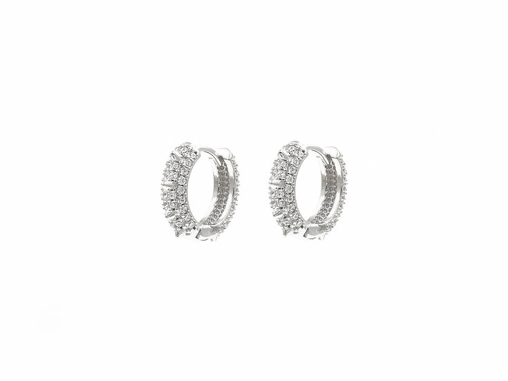 9mm Round Rivets Hoops in Silver