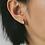 Thumbnail: Karo Star Mini Hoops in Silver