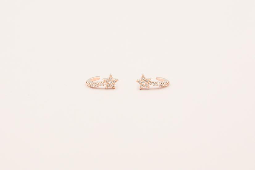 Avice Star earrings in Rose Gold