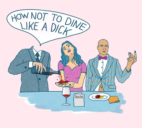 Time Out Jess Ho How not to dine like a dick illustration