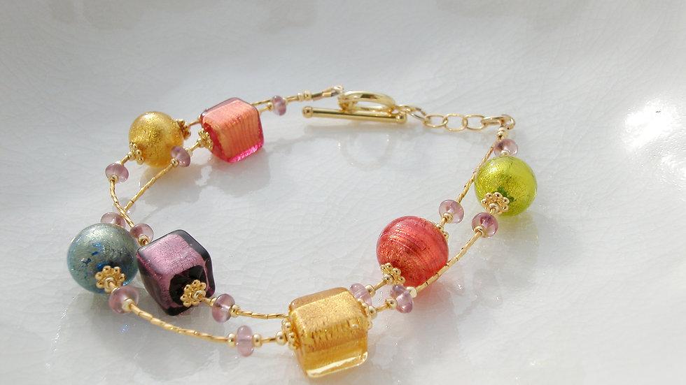 Gold Plated Murano Glass Bracelet