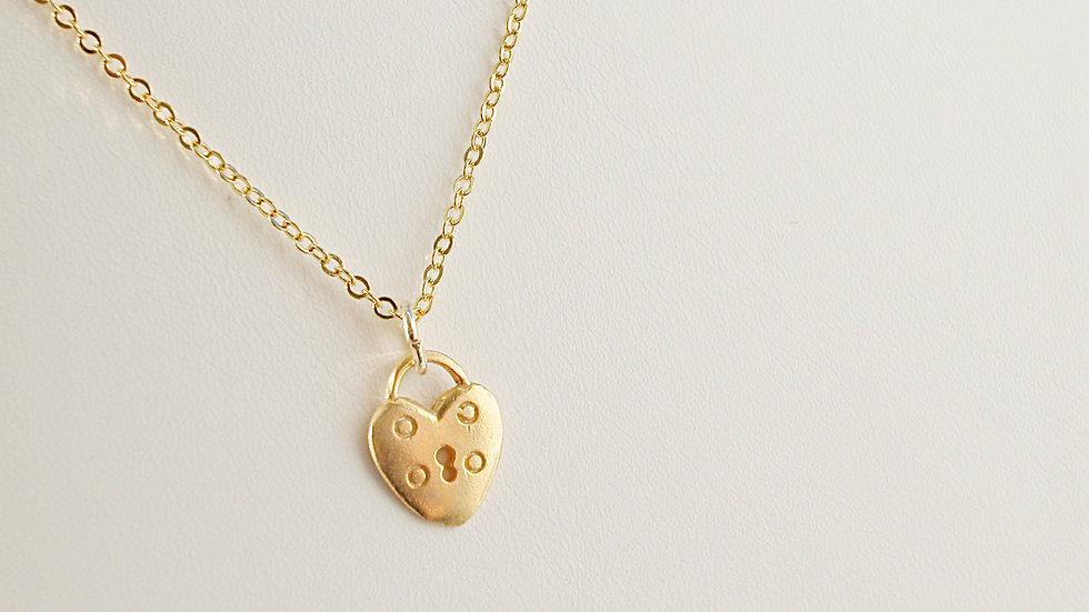 24k Gold Vermeil Locket Necklace