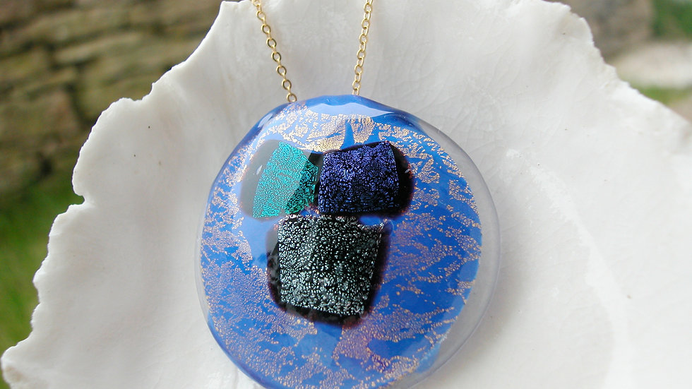 Huge Murano Dichroic Glass Necklace