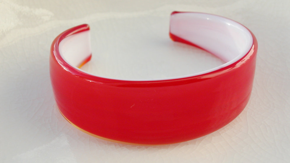 Red Murano Glass Bangle
