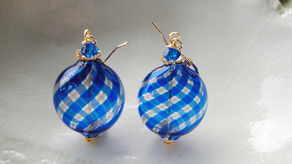 Mini Murano Blown Glass Earrings