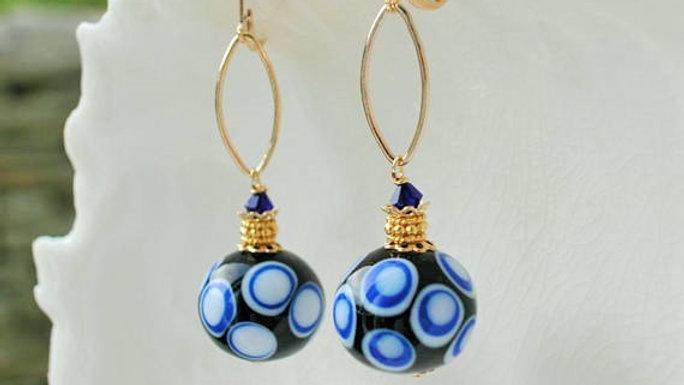 Venetian Murano Polka Dot Earrings