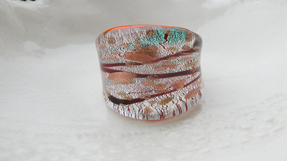 Murano Glass Ring UK Q or US 8