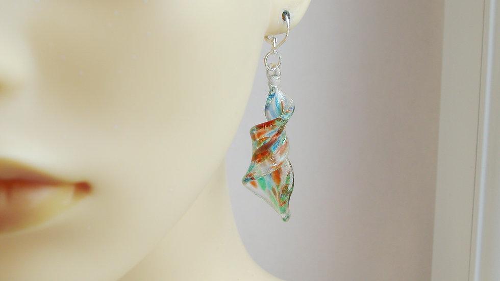 Murano Twist Glass Earrings