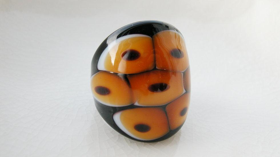 Honeycomb Murano Glass Ring