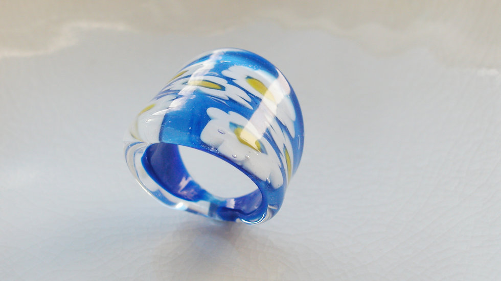 Millefiori Murano Glass Ring