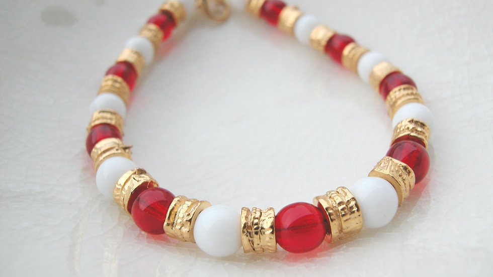 Red Murano Glass Bracelet