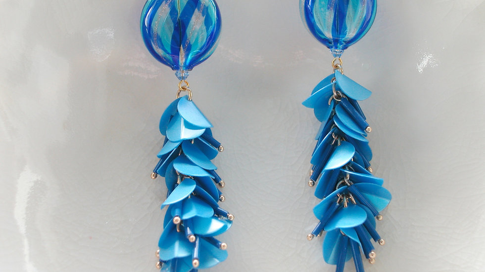 Blown Murano Glass Tassel Earrings