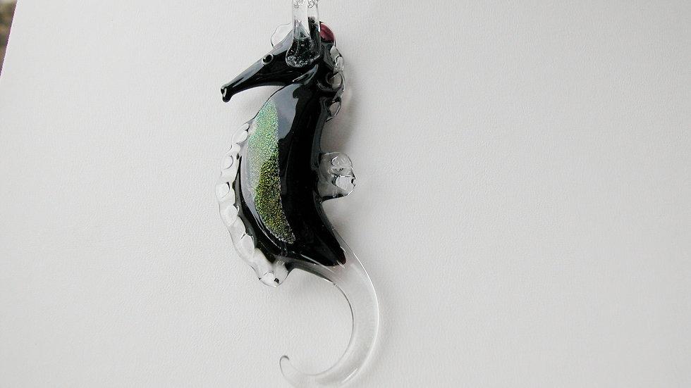 Murano Glass Dichroic Seahorse - Exclusive